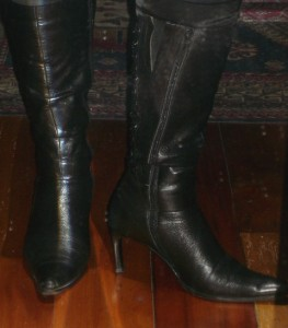 Boots in honour of my younger lover...